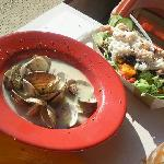Steamer Clams and Crab Salad