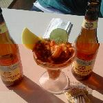 Shrimp Cocktail and Longboard
