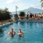 View from the pool to Naples