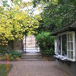 The entrance to the garden is a few walks away from the main road