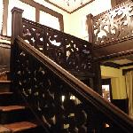  Elegant stairway -- Mark Twain stayed here