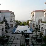 The view from the open lounge...overlooking the swimming pool....