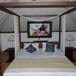 room upstairs, romantic bed