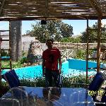  Pergola y Piscina en el Jardin del Hostal Aldea del Elqui