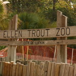 Ellen Trout Zoo - notice the orange fencing