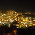 night photo of Medellin