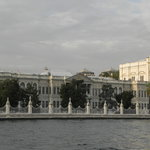 Dolmabace Palace from the Stern of the Yacht