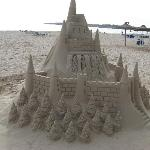 A sand sculpture on the baech at cala millor