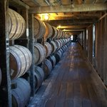 Row of bourbon from one of HH's many warehouses