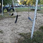  playground with broken equipment