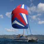Sailing on kuralu in the British Virgin Islands