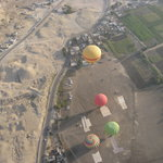 one of the great views from hot air baloon in luxor