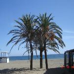  The quietness of the beach at Estepona