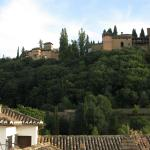View of the Alhambra from the rooftop terrace