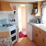Interior of 2 bedroom caravan
