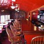 Bar. Original train car!
