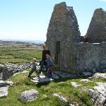 Tiny St Brennan chuch on hill behind Ard Einne