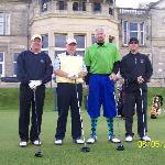 James with us before tee off at St. Andrews