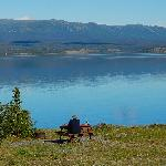 Enjoying Kluane Lake