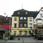Hotel front, faces the Rhine