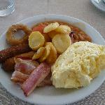  The cooked breakfast from the buffet
