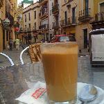 Coffee across the Street from the Pension