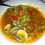 The Manhattan clam chowder was amazing