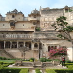 Entrance to Garh palace-well maintained garden