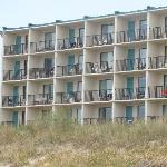 "Pic of ""tower"" rooms taken from the beach."