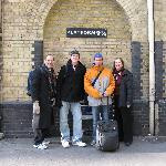 The Four of Us at King's Cross Station