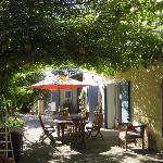 Breakfast under the grapevine at Le Mas de la Menouille