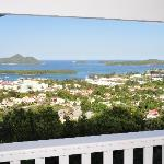 180 degree view over the harbour, bay and islands