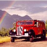 The White Motor Company between 1936 and 1938 built glacier's red-with-black trim vehicles.