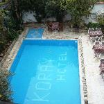 pool in courtyard of Koray