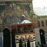Courtyard at Omayad Mosque Damascus Syria