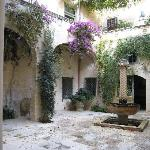 The very attractive courtyard
