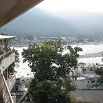 View of the Ganges river from the room balcony