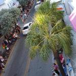 view from 3rd floor onto Duval St.