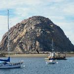 Morro Rock seen from Fisherman's wharf