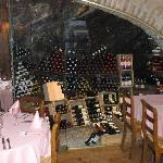 Wine cave in Le Midi restaurant