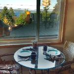  the breakfast nook in the cottage