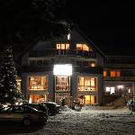 Hotel from outside during winter