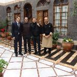 Bryan Adams at Beit Zafran Hotel De Charme, with Adnan Habbab (The Owner), Nour Moftah ( Hotel M