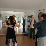 Tango class at Casa Media Luna
