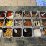 Lots of toppings to choose from!
