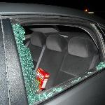 Our friend's car was broken into, the window was smashed, and their belongings were stolen