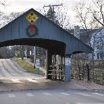 The cute covered bridge in Long Grove, Illinois