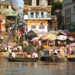 Colourful scene at the Ghats