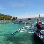 Boracay pier for transfer to mainland