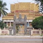  temple on theother side of the street